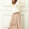 春風にふわふわ揺れる♡キュートなロングプリーツスカートのモテコーデ♡レディース通販