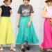 この夏流行りのスカートは鮮やかビタミンカラーで決まり♡ロングフレアスカートコーデ♪